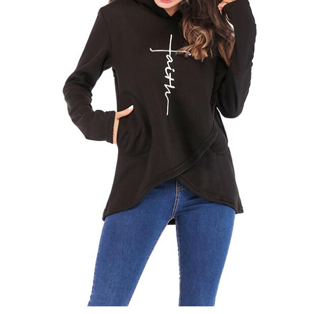 Autumn Hoodies Sweatshirts Women Long Sleeve Embroidery Letter Warm Hooded Pullover Tops Casual Female Sweatshirt in Hoodies amp Sweatshirts from Women 39 s Clothing