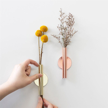Wall-mounted Flower Vase Abstract Minimalist Iron Dried Racks Nordic Ornament Home Decoration