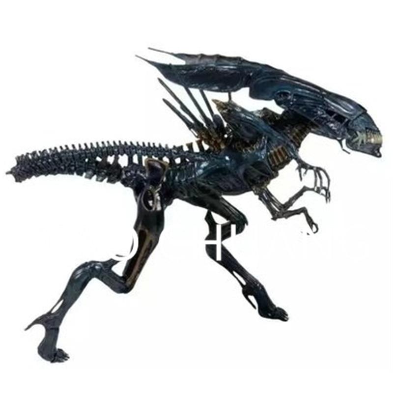 Alien vs. Predator Transparent Circular Armor Xenomorph Queen PVC Action Figure Collection Model Toy G864