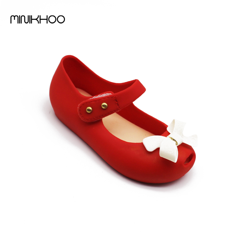 Mini Melissa Bow Children Shoes Jelly Shoes Soft Girls Sandals Bottom Girls Melissa Princess Shoes Girls Baby Girl Sandals
