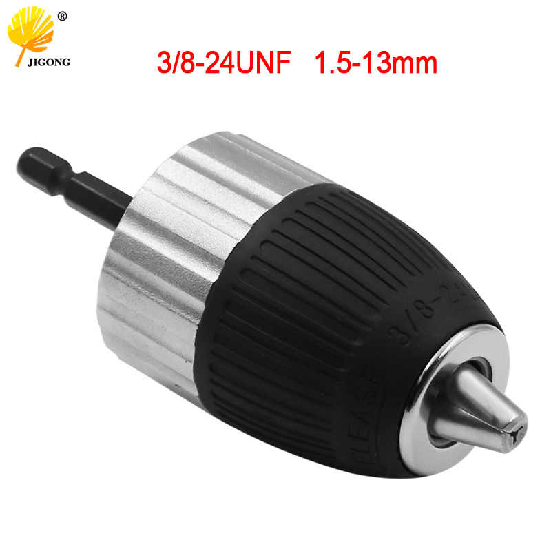 Drill Chuck Self-Locking Keyless Drill Chuck For Impact Wrench Conversion Woodworking Screwdriver Tool