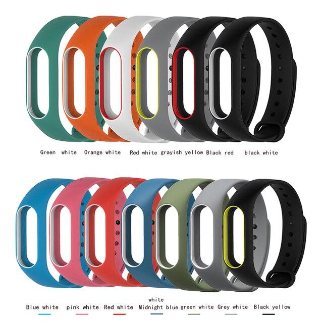 1 PCS שיאו mi mi Band 2 עבור mi Band 2 סיליקון צמיד רצועת mi band 2 צבעוני רצועת צמיד החלפת אביזרים