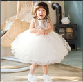 2017 latest 12-24 month baby girl dress golden princess wedding formal vestido infantil clothes baby girl party gowns ABF164709