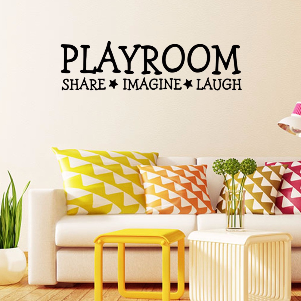 Playroom vinyl wall decal home decor children\'s room toy room ...