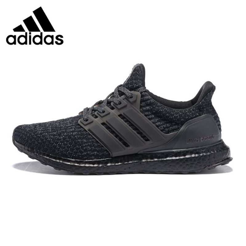 Adidas UltraBoost Triple Black Men's Running Shoes, Black, Shock Absorption Non slip Abrasion Resistant Lightweight BA8923