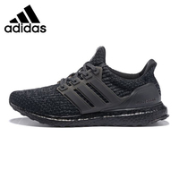 Adidas UltraBoost Triple Black Men's Running Shoes, Black, Shock Absorption Non slip Abrasion Resistant Lightweight BA8923