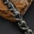 Hip vários cadeia pulseira dos homens do crânio do punk gótico titanium aço inoxidável banhado a prata do metal