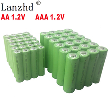 4PCS-40pcs  AA 2500mAh Rechargeable Batteries AAA 1.2V 3A 800mah Ni-MH batteies for Remote Control Toy