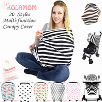 Kolamom Multi Use Breathable Baby Blanket Swaddling Canopy Infant Nursing Baby Carriage Car Seat Cover Shopping
