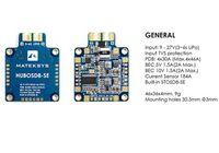 Matek HUBOSD8 Eco H Type PDB Current Sensor 140A Dual 5V 2A 12V 500mA BEC With