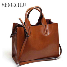 Leather Bags Handbags Women Famous Brands Big Casual Women Bags Trunk Tote Spanish Brand Shoulder Bag