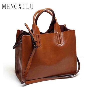 Leather Bags Handbags Women Famous Brands Big Casual Women Bags Trunk Tote Spanish Brand Shoulder Bag Ladies large Bolsos Mujer grande bolsas femininas de couro