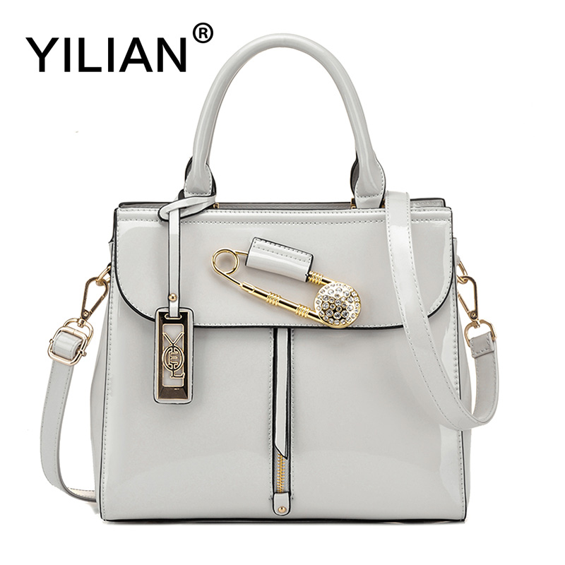 YILIAN 4 Colors Handbag for Woman 2017 New Messenger Bag Glossy Leather Shoulder Bag for Shopping Female Bag 1710 battery protection board 15a precise for 2s 7 2v li ion batteries lithium batteries