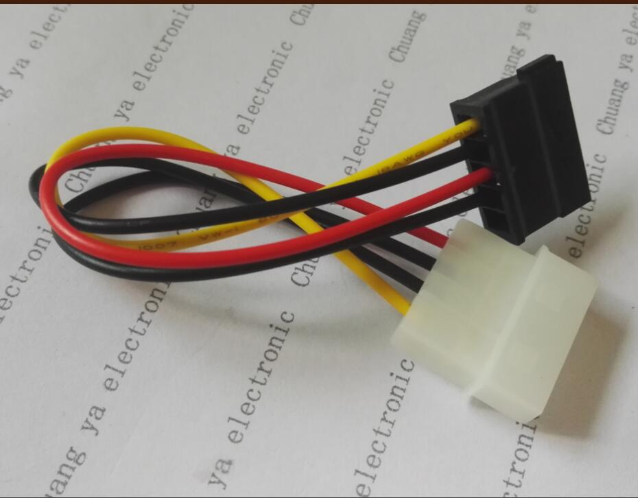 computer power supply big 4P/D female to SATA female Conversion cable extension cord length:17cm