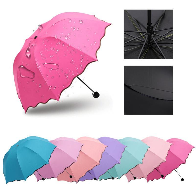 Neue Qualifizierte Neue Dame Prinzessin Magie Blumen Dome Sonnenschirm/Regen Taschenschirm Levert Dropship dig6825