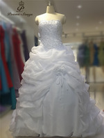 Poemssongs Custom Made High Quality 2017 Strapless Wedding Dresses For Wedding Mariage Dress Robe De Mariee