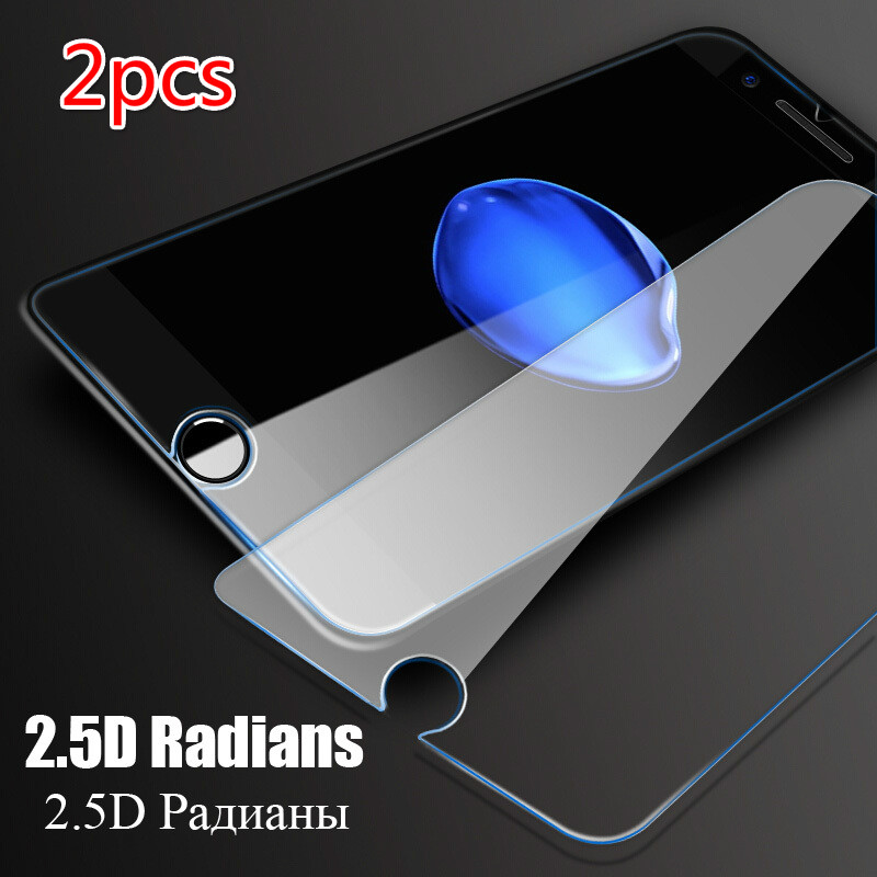 2 Pcs Tempered Glass Film For IPhone11pro 6 6s 7 8 Plus XR XS Max Screen Protector For IPhone X 5 4 4S Protective Security Film