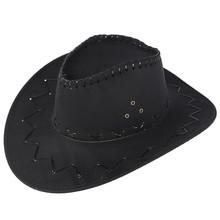 Sommer Cowboy Hut Leder Unisex Erwachsene Wild West Männer Damen Cowgirl Hut Neueste Casual Harajuku Hüte Mann Streetwear Caps # LR1 cheap ISHOWTIENDA Faux-Leder CN (Herkunft) Cowboyhut Beiläufig Fest