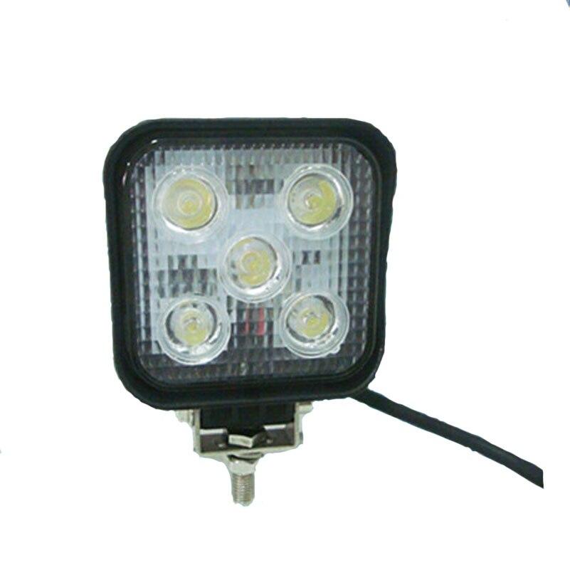 ФОТО 15W LED Work Light Bar Car Offroad Spotlight Fog Lamp for Jeep SUV ATV Truck Driving Lamp DRL Headlight Waterproof PMMA Lens