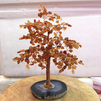 big size Crystal natural Red agate quartz gemMoney Tree Feng Shui Wealth Home Decor Miniature Figurines PartyGift