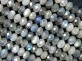 Labradorita Natural 3.5*4.5-5mm facetas rondelle grano del encanto europeo pulsera de perlas joyería que hace el envío gratuito