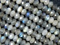 Natural  labradorite 3.5*4.5-5mm faceted rondelle charm european bead bracelet beads jewelry making free shipping