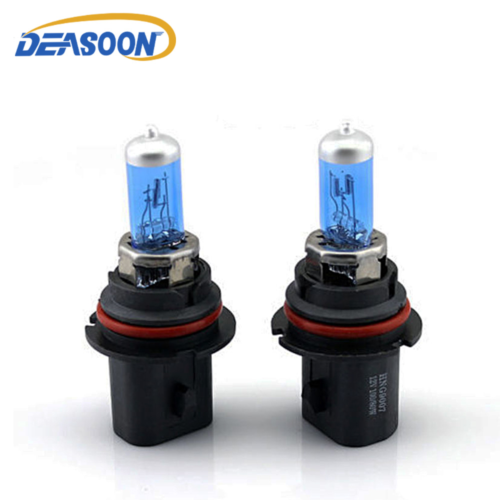 2pcs 9007 HB5 Halogen Xenon Car Headlight Bulb Super White DC 12V 65 55W 6000K Replacement