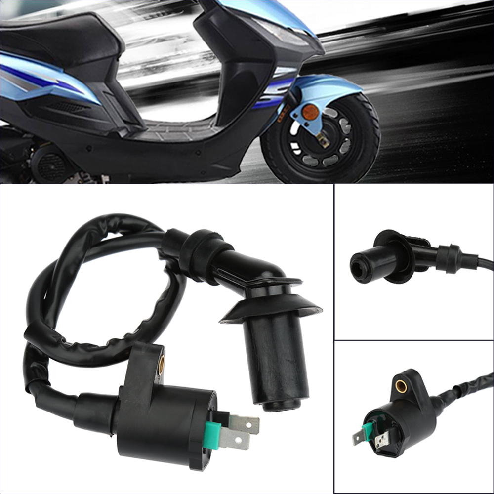 Motorcycle Ignition Coil GY6 50-150cc with Cable for ATVs Scooters Go Karts High Performance Motorcycle Modification Parts ...