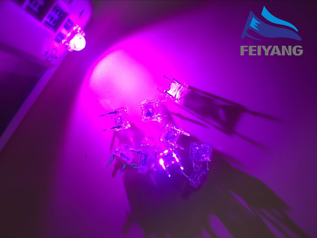 500pcs 5mm Clear Lens pink Piranha LED Diode Transparent Light Emitting Diode LED 5mm Round Top