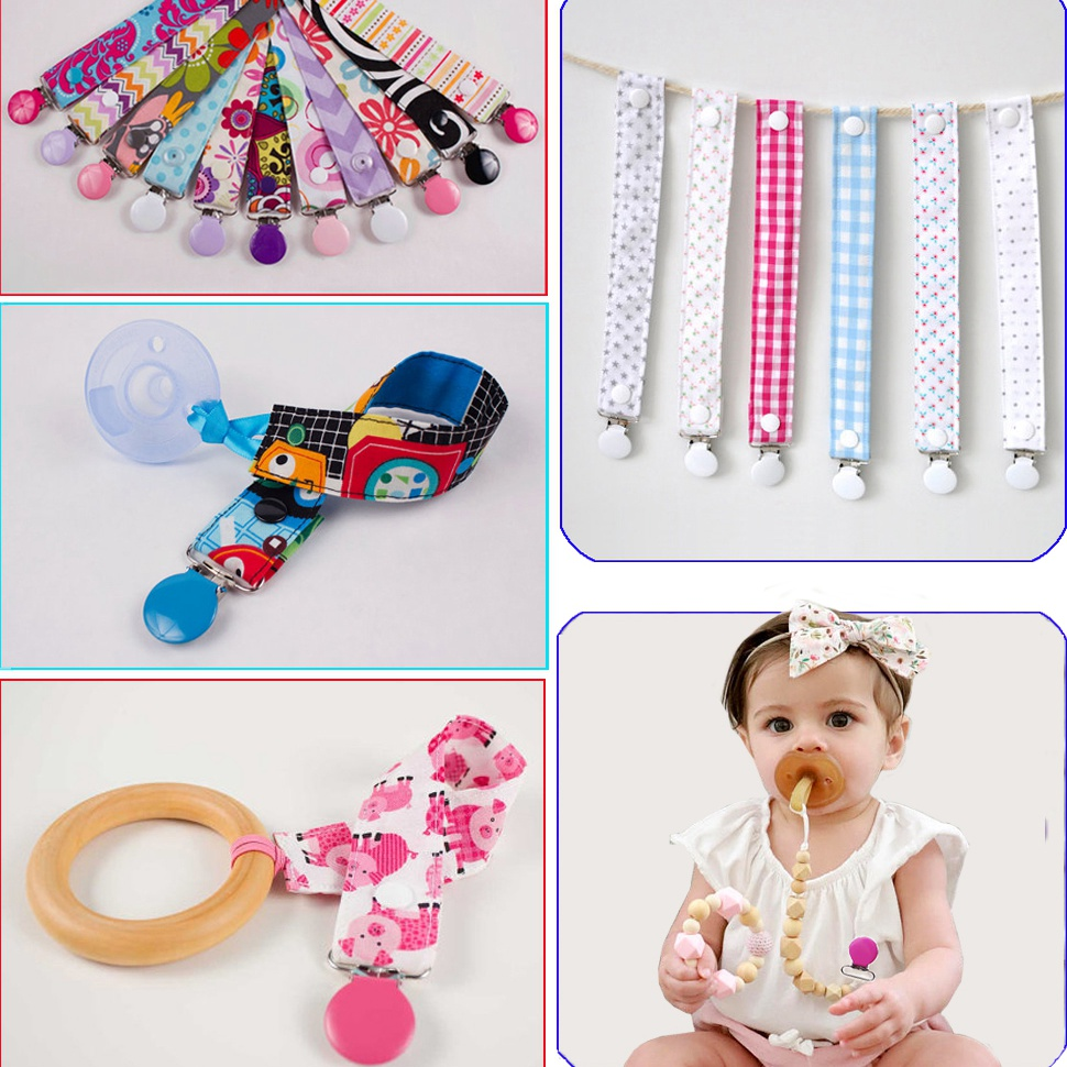 Купить с кэшбэком Free Shipping 50 pcs Sutoyuen 1'' 25mm 21 Colors Round Pacifier Clips / Garment Enamel Metal Suspender Clips Baby Dummy Holder
