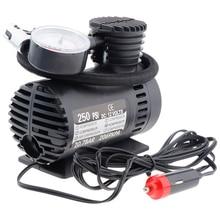 المحمولة الكهربائية الصغيرة 12 فولت مضخة ضاغط الهواء إطار سيارة مضخة نفخ إنفلادور دي نيوماتيكوس بومبا pneu gonfleur pompe