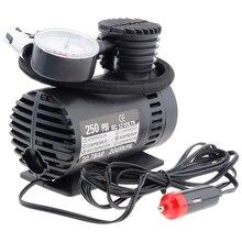 Przenośny elektryczny Mini 12V pompa sprężarki powietrza pompy opon Inflator pompy Inflador de neumaticos bomba pneu gonfleur pompe