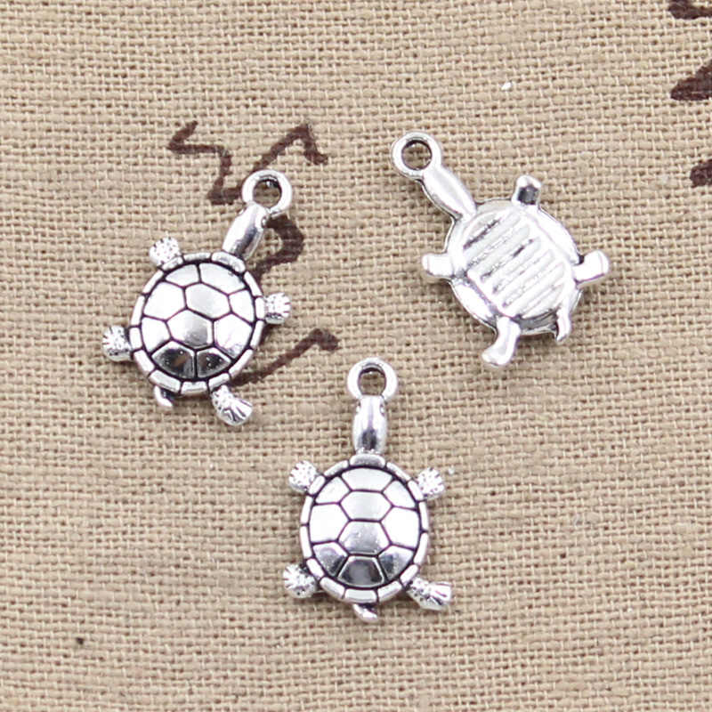 10pcs Charms tortoise turtle sea 18x11mm Antique Making pendant fit,Vintage Tibetan Silver,DIY bracelet necklace