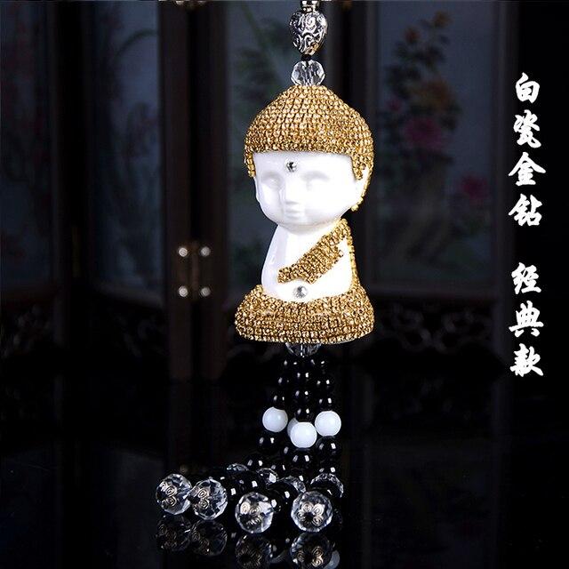 bouddhiste de voiture pendentif en cristal bouddha voiture style intrieur de dcoration chanceux pendentif vhicule accessoires