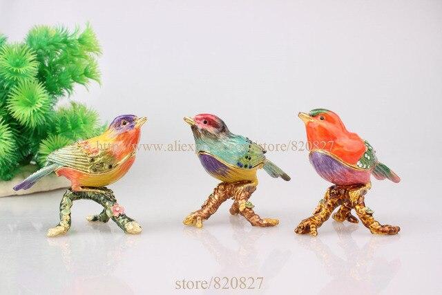 Oiseau boîte de bijoux or de Coffret cadeau décoratif vintage boîte on