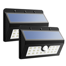 1PC X 20 LED Solar Power Lamp PIR Motion Sensor Solar Light Outdoor Garden Wall Waterproof Light with Three Intelligent Modes
