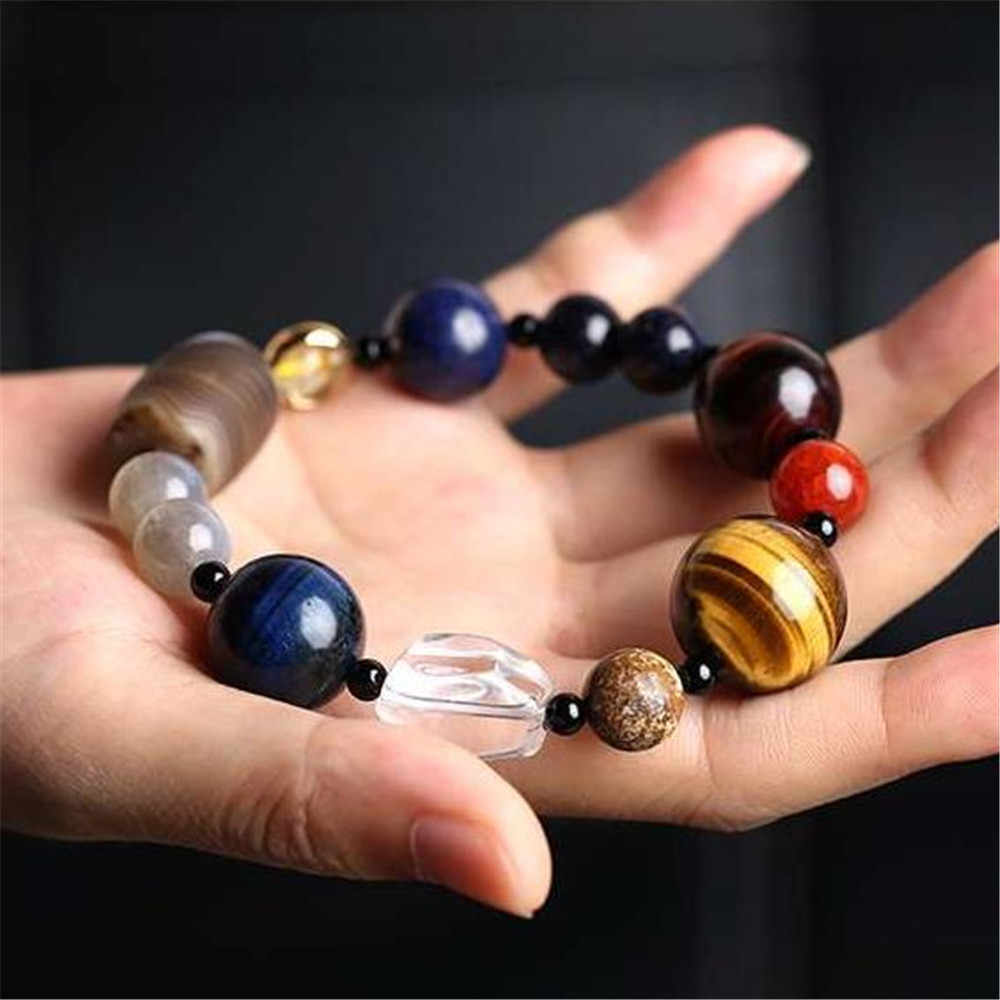 High Quality Eight Planets Bracelet Men Natural Stone Universe Yoga Chakra Solar Beads Bracelet for Women Jewelry Dropshipping