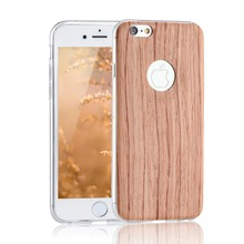 For iPhone5 5s SE 6 6s 7 6Plus For Samsung J1 J3 A3 A5 2016 For Huawei P8 P9 Lite ultra thin Wooden TPU Case Soft Cover Case
