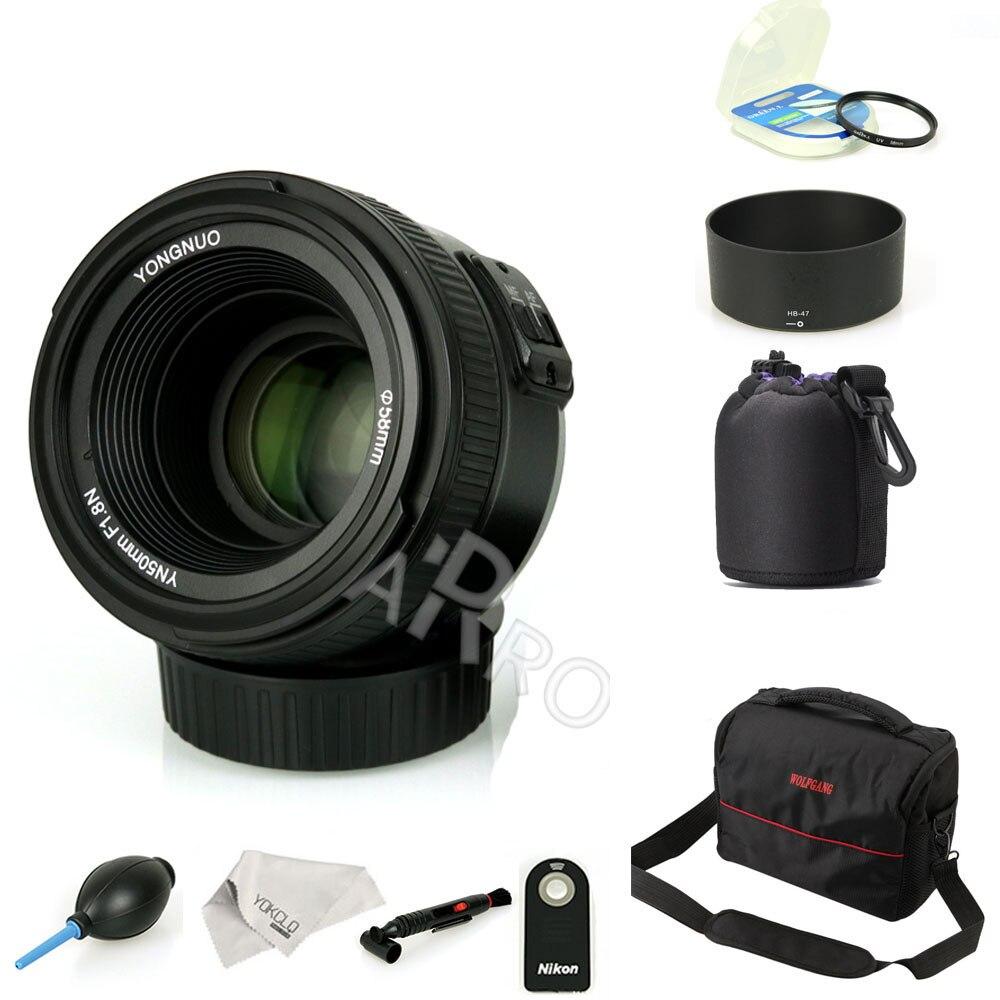 D'origine YONGNUO YN 50mm f/1.8 Objectif AF YN50mm Ouverture Mise Au Point Automatique grande Ouverture pour Nikon Canon Dslr comme AF-S 50mm 1.8G