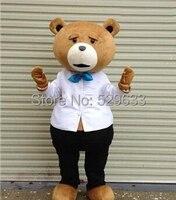 2014 Costume Della Mascotte Ted orso Personaggio del film, trasporto libero