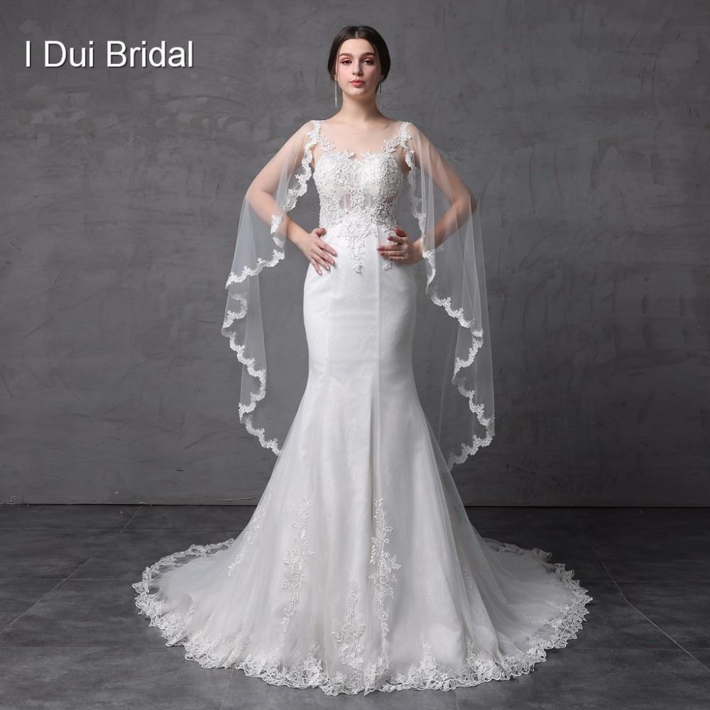 Illusion Corset See Through Back Mermaid Wedding Dresses