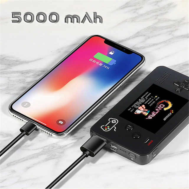 5000mA Portable Mobile Power Retro Handheld Game Console Built-in s 188 8-bit Retro Games for iPhone (2018 NEWS) 1