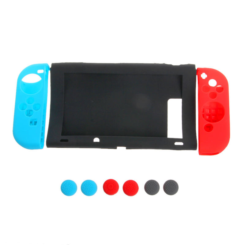 New 11 In 1 Anti-Slip Silicone Cover Case Set For Nintendo Switch Joy-Con Controller