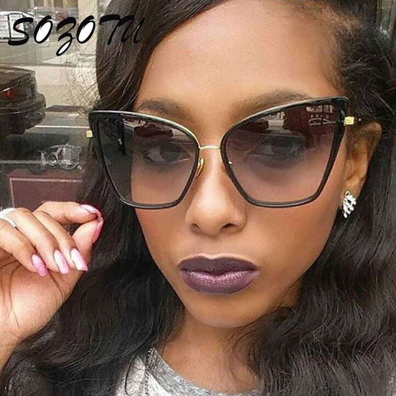 SOZOTU Fashion Cat Eye Sunglasses Women Vintage Luxury Sun ...
