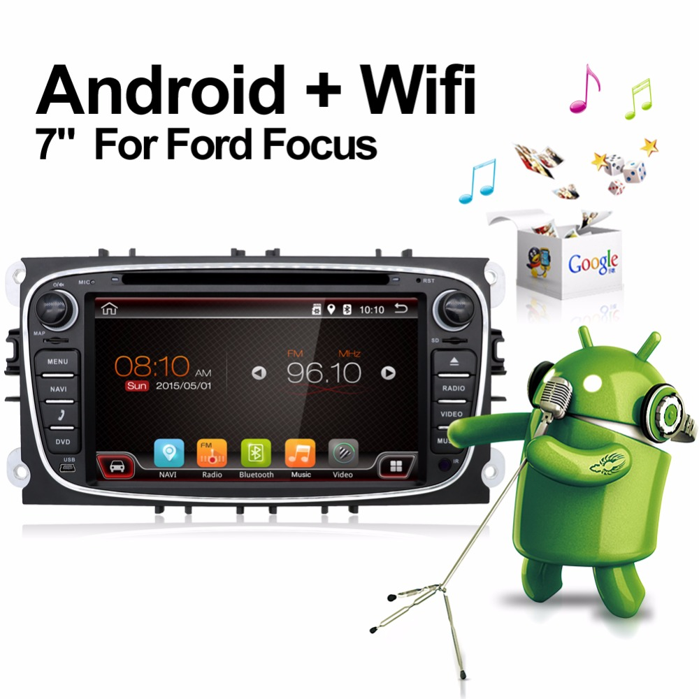 Android 7.1Quad 4 Core Two 2 Din 7 Inch Car DVD Player For FORD/FOCUS 2/MONDEO/S-MAX/CONNECT 2008-2011 With Wifi Radio GPS BT