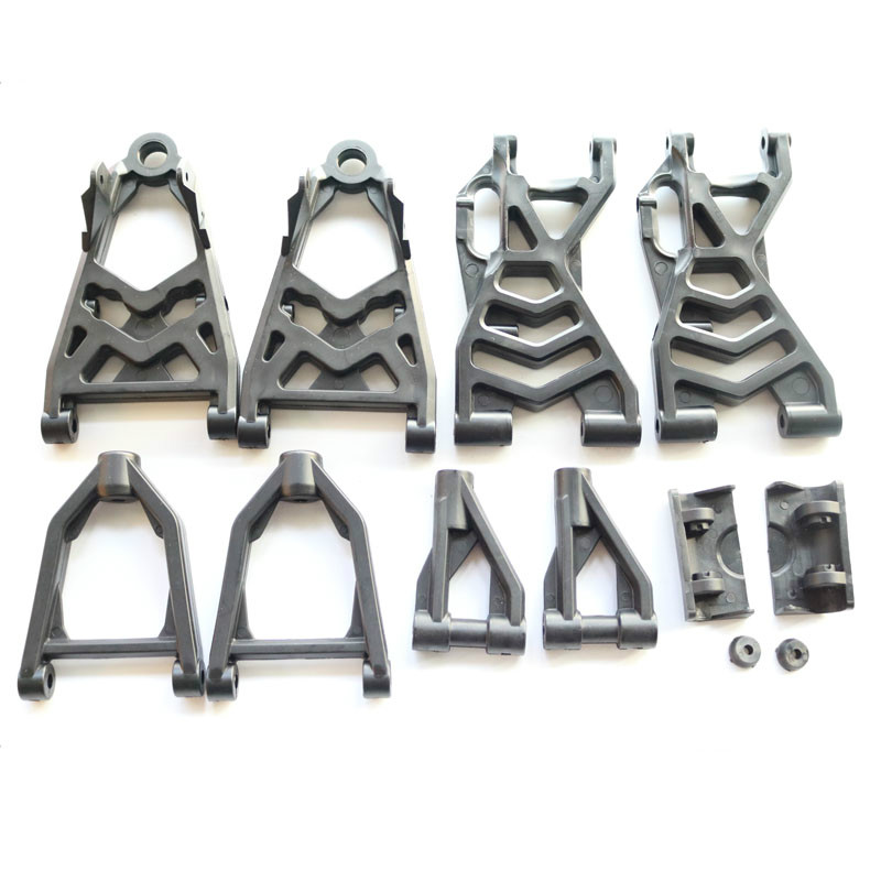 Plastic Upgraded Reinforced Complete Front And Rear Suspension Arm Set Fits 1/5 HPI Rovan  Km Baja 5b Ss 5t 5sc Rc Car Parts