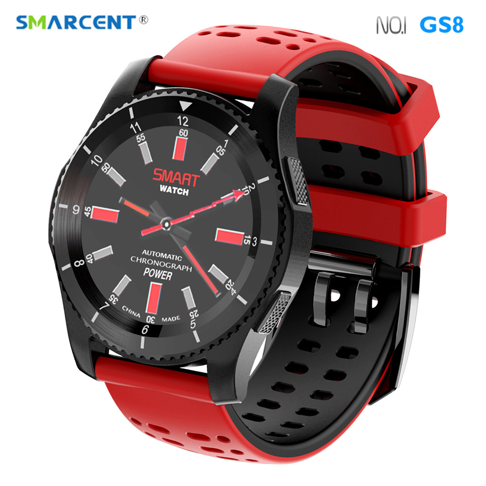 SMARCENT No.1 GS8 GPS Bluetooth Smart <font><b>Watch</b></font> W02 Heart Rate Monitor <font><b>Pedometer</b></font> <font><b>Sport</b></font> Smartwatch <font><b>Support</b></font> <font><b>SIM</b></font> Card For iOS Android