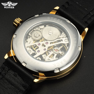 Image 3 - Mannen Mechanische Horloges Winnaar Top Luxury Brand Hand Wind Horloges Rvs Lederen Band Forsining Man Waterdichte Klok
