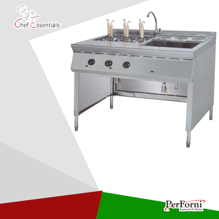 Pkjg gh1176 gas convection pasta cooker bain marie 6 for Cuisson four bain marie