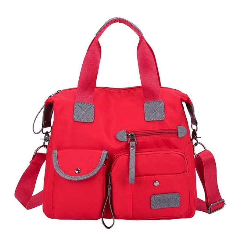 Adisputent Handbags Multi-Pockets-Shoulder-Bag Zipper Travel Large-Capacity Outdoor Portable